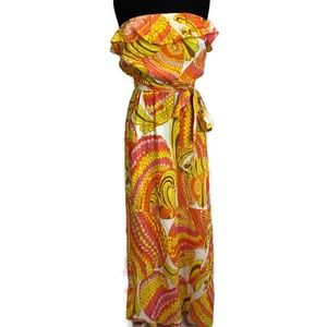 Banana Republic Trina Turk 100% Silk Maxi Dress 4